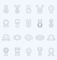 Badge Awards thin outline stroke icons vector image vector image