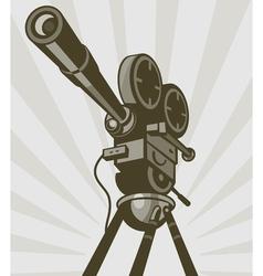 Vintage movie or television film camera vector