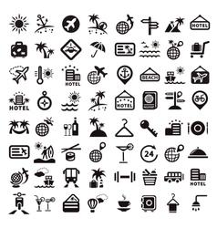 big travel icons set vector image vector image