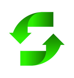 green arrows up down on a white background design vector image