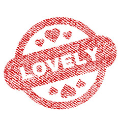 lovely stamp seal fabric textured icon vector image