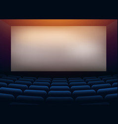 movie cinema hall theater with projection wall vector image