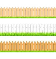 Seamless fences vector image