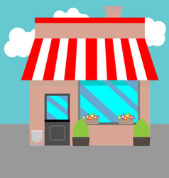 Small street shops vector image