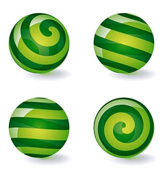 striped spherical icons vector image vector image