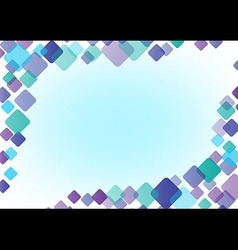 abstract background frame color of round square vector image vector image