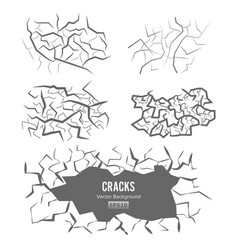 cracks in the ground 3d vector image vector image