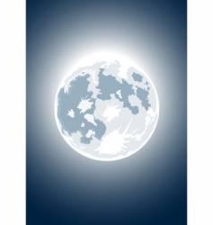 Halloween full moon vector image vector image