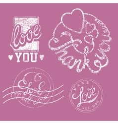Stamps Love Set vector image