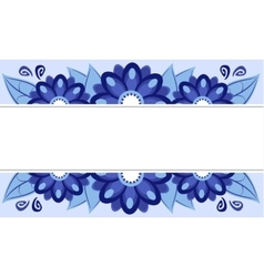 frame of blue flowers vector image vector image