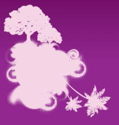 mythical tree design vector image vector image