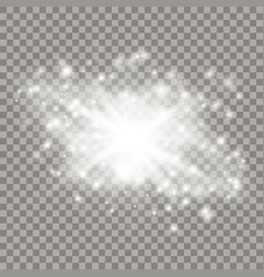 white star explosion with particles vector image