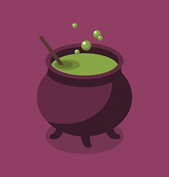 Witch pot flat style vector image