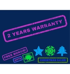 2 Years Warranty Rubber Stamp vector image