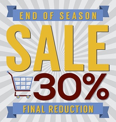 30 Percent End of Season Sale vector
