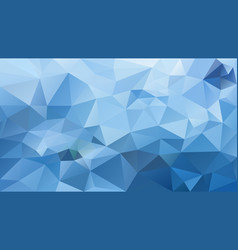 Abstract irregular polygonal background blue vector