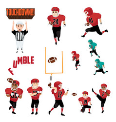 american football icons cliparts design elements vector image