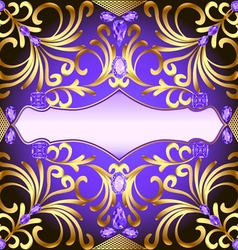 Background with gems and gold vector