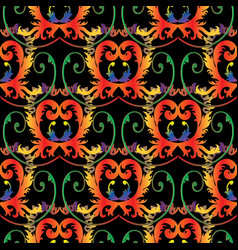 baroque colorful seamless pattern antique vector image