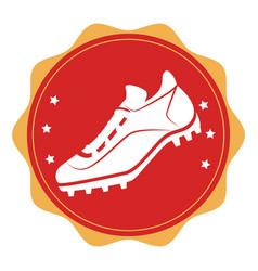 Baseball shoes sport emblem icon vector
