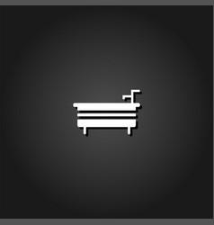 bath icon flat vector image