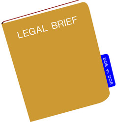 brown notebook legal brief vector image