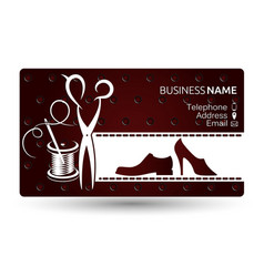 business card repair shoe vector image