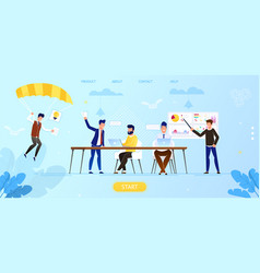 creative people in office working together idea vector image