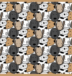 cute dog pattern background vector image