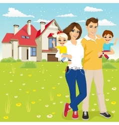 family with mother father son and daugther vector image