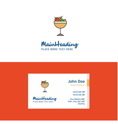 flat cherries logo and visiting card template vector image