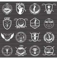 Golf labels badges and emblems vector