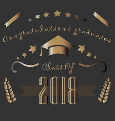 graduation class of two thousand eighteen vector image