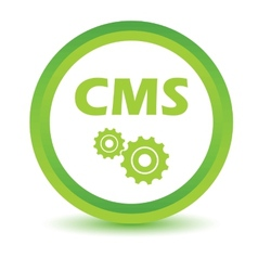 Green cms icon vector
