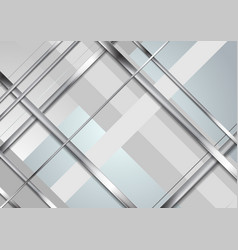 grey abstract technology metallic stripes vector image