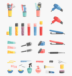 Hairdressing barbershop icons salon vector