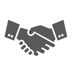 handshake glyph icon finance and banking vector image