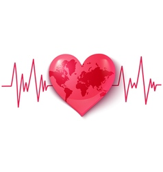 heart pulse map vector image