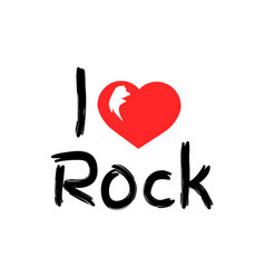 i love rock music poster vector image