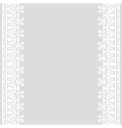 Lace frame on gray background vector