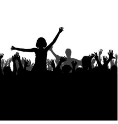 Lets party concept with silhouettes of people vector
