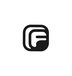 letter f logo designs inspiration isolated on vector image