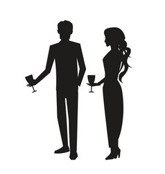 man in suit and woman in dress vector image