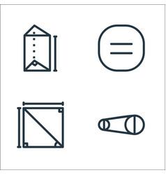 Mathematics line icons linear set quality line vector