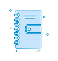 notepad icon design vector image