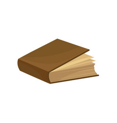old book with brown cover on a vector image