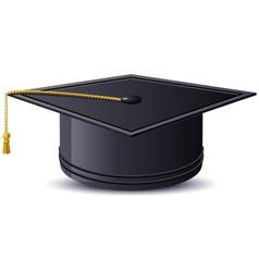One mortarboard isolated vector