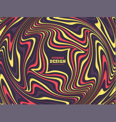 Optical illusion abstract background vector