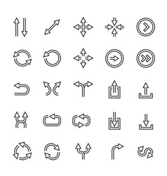 outlined arrows icon set vector image