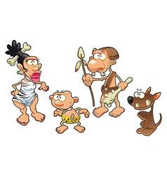 Prehistoric family vector